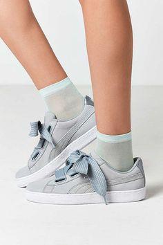 brand new 21966 c3124 Puma Basket Heart Metallic Safari Sneaker