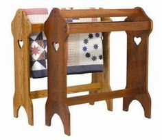 Amish Mini Quilt Rack With Quilt