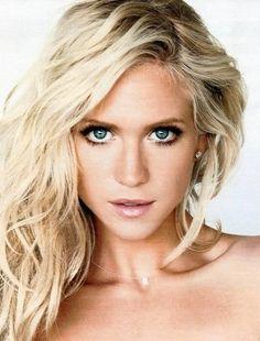 Celebrity lash inspiration: Britney Snow - blonde hair, blue eyes and long lashes #lashabeauty #sandiego #eyelashextensions