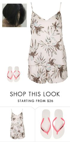 """Untitled #124"" by erin-bittencout on Polyvore featuring moda, Topshop e Havaianas"