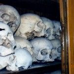 Skulls from the War of Greek Independence of 1821 Chios, Greece