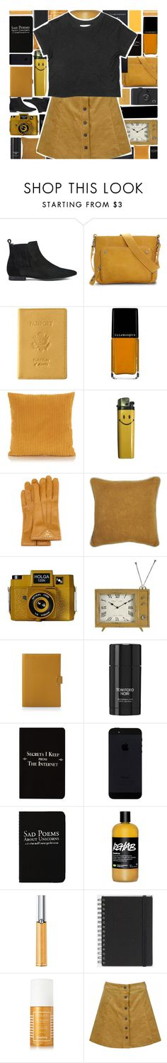"""""""mustard"""" by xgracieeee ❤ liked on Polyvore featuring H by Hudson, Ellington, Royce Leather, Prada, Villa Home Collection, Holga, Thomas Lyte, Tom Ford, Rich and Damned and WALL"""