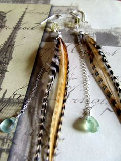 Hand Made Sterling Silver Feather Earrings by FeatheredSparrow