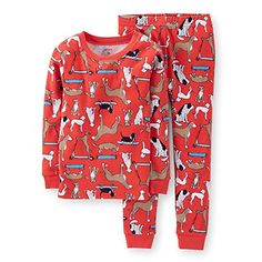 Carters Baby Little Boys Snug Fit 2 Pc Cotton Pjs 12 months red >>> Visit the image link more details.