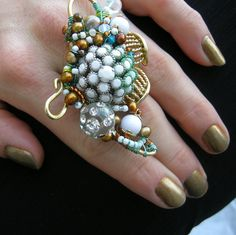 Sea Anemone Cocktail Ring by Klewism, via Flickr