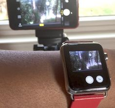 """Use The Apple Watch As A Camera Remote! This is a pretty """"kick ass"""" feature because you can set your iPhone up somewhere to take a photo and use your Apple watch not only as a view finder but it's a camera remote as well!  Open the camera app on both your iPhone and your Apple Watch..."""