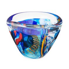 Set 4 Venetian Millefiori Hand Blown Glass Tall Tumblers Red Orange White Spots More Discounts Surprises Pottery & Glass Glass