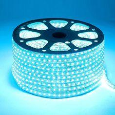 SMD3528 Dual Row High Voltage 110&220V RGB LED Strips, Waterproof IP67, 180LEDs Per Meter, 50&100 Meter (164&328ft) Per Reel By Sale