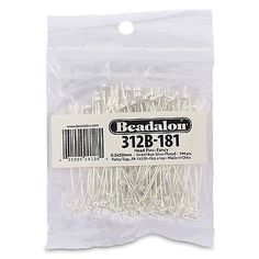 Earring Findings 150051: Beadalon 144-Piece 2-Inch Fancy Head Pin Nickel Free Silver Plate -> BUY IT NOW ONLY: $31.19 on eBay!