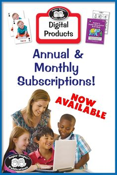 Annual and MONTHLY subscriptions to the Super Duper Digital Product Library are now available! It's full of the learning tools you know and love, formatted for online learning / teletherapy. Learning Tools, Back To School, Digital, Back To College