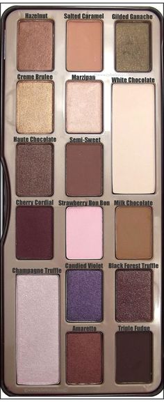 @Too Faced Cosmetics Chocolate Bar Eye Shadow Palette up close and personal!