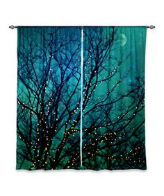 Love this Sylvia Cook Magical Night Curtain Panel - Set of Two by DiaNoche Designs on #zulily, $59-$130 !!  #zulilyfinds