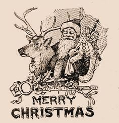Free Vintage Clip Art - Santa, Santa, Santa! - The Graphics Fairy