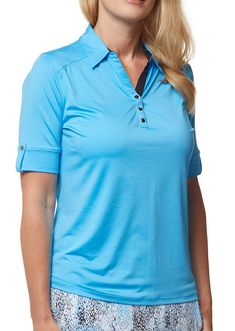 Check out what Loris Golf Shoppe has for your days on and off the golf course! Sport Haley Ladies Blu Elbow Sleeve Golf Polo Shirts - CAPRI (Mediterranean)
