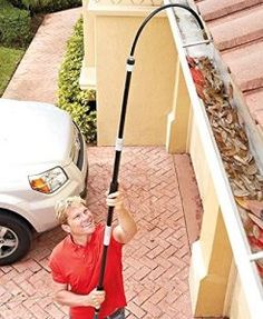 Super Blaster Home & Gutter Spray Wand easily removes buildup in hard-to-reach areas. This versatile wand attaches to any standard hose to create a high-powered cleaning stream. It has a flexible nozzle that allows you to get the perfect angle and a Car Cleaning, Cleaning Hacks, Gutter Cleaning, Spring Cleaning, Rv Hacks, Organizing Tips, Organization, Lawn Equipment, Perfect Angle
