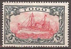 1919-German-colonies-Togo-5-Mark-Yacht-issue-mint-Michel-23-II-A-220-00