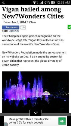 Congrats Vigan city #proudtobeafilipino #viganyyourock