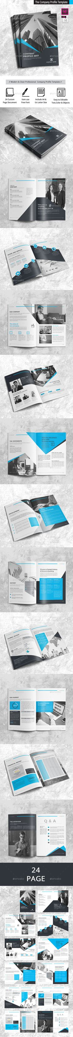 The Company Profile 24 Pages Template InDesign INDD
