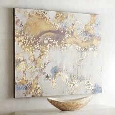 Golden Sky Abstract Art