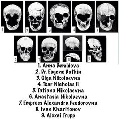 Skulls of Romanov family