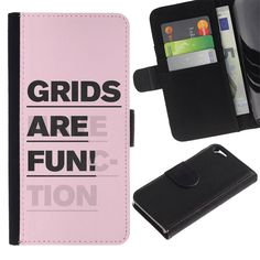 Graphic4You Grids Are Fun Message Quote Thin Wallet Card Holder Leather Case Cover for Apple iPhone SE / 5 / 5S. Compatible with: Apple iPhone SE / 5 / 5S. Wallet case made of high quality synthetic leather. High quality printing. Colors won't fade. The smart design gives you total access to all functionality and buttons without removing your device. Great protection.