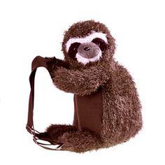 Plush Sloth Backpack
