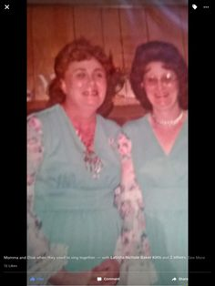 Two of my Aunts on My Dad,s side Aunt Mandy And Aunt Elsie