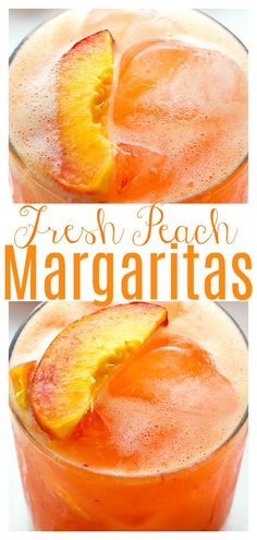 Summer Cocktails, Cocktail Drinks, Cocktail Recipes, Alcoholic Drinks, Beverages, Peach Vodka Drinks, Food And Drinks, Peach Margarita Recipes, Mets Vins