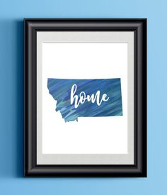 It's always nice to be reminded of home. Check out our new Printable Montana... http://shop.jonnyandbritt.com/products/printable-montana-home-watercolor-print-state-home-sign-wall-decor?utm_campaign=social_autopilot&utm_source=pin&utm_medium=pin