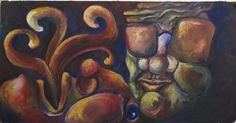 """""""Speaking in Tongues"""" by Kate Kreps. 2007. Oil on drywall."""