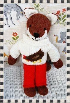 Henry Fox  pdf - easy knitted toy patterns by Debi Birkin www.debibirkin.com