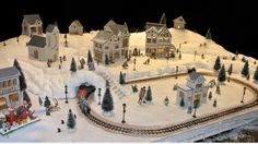 Disney Christmas Village, Christmas Train Set, Christmas Village Houses, Christmas Village Display, Christmas Town, Christmas Time Is Here, Christmas Villages, Noel Christmas, Christmas Gifts For Kids