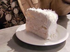 I've pinned this recipe for the cake layers and the frosting. Coconut Cake with Frosting recipe from Alton Brown via Food Network Frosting Recipes, Cake Recipes, Dessert Recipes, Buttercream Recipe, Vanilla Buttercream, Milk Recipes, Sweet Recipes, Alton Brown, 7 Minute Frosting