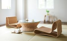 Japanese Muji Floor Chair Designs For Your Cozy Room - Japanese Furniture, Bamboo Furniture, Japanese Chair, Japanese Interior Design, Japanese Design, Japanese Style, Japanese Dining Table, Chair Design, Furniture Design