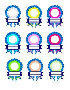 Ribbon Designs for Recognition Day