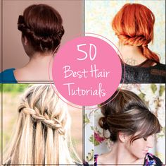 50 Best Hair Tutorials | GirlsGuideTo Good Hair Day, Love Hair, Diy Hairstyles, Pretty Hairstyles, Dye My Hair, Beautiful Long Hair, Hair Tutorials, Hairspray, Hair Today