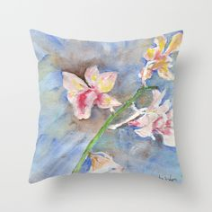 Tropical Orchid Throw Pillow by ellisewalburn Orchids, Tropical, Collections, Throw Pillows, Toss Pillows, Cushions, Decorative Pillows, Decor Pillows, Scatter Cushions