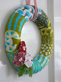 Kranz, Stoff, Wreath, Fabric, deko, deco