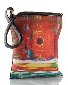 leather purse messenger bag sling bag sling purse art deco