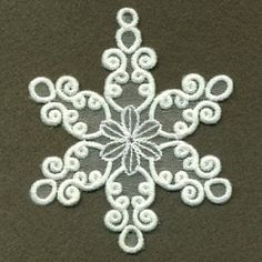 Organza Decorative Snowflake 4 - 4x4 | What's New | Machine Embroidery Designs | SWAKembroidery.com Ace Points Embroidery