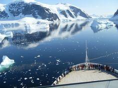 Glacier watching in Antarctica.
