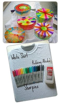 Sharpie dyeing! Makes better results than tie-dyeing! And so easy!