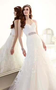 Wedding Dresses - Lace Vintage Wedding Dress from Essense of Australia Style D1679.