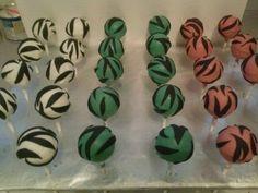 Zebra Print Cake Pops