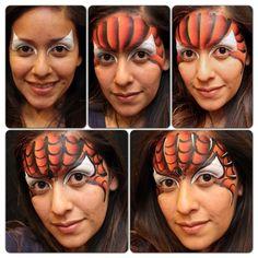 Spider guy facepaint