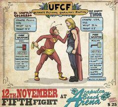 Chapolin VS Thor  - Ultimate Fictional Characters Fighting -- Arte por Filipe Capra