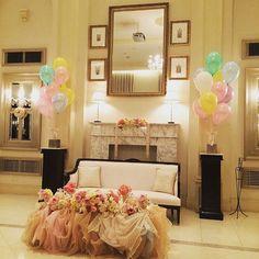 #高砂 #バルーン#balloons  #チュール #ソファー席  #パステル #結婚式