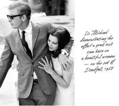 """nickelcobalt: """" Michael Caine and Giovanna Ralli (via everyday_i_show: photos by Terry O'Neill) """" Terry O Neill, Style Année 60, Style Icons, 1960s Style, Mods Style, Couple Style, Steve Mcqueen, 1960s Fashion, Mens Fashion"""
