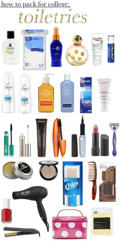 How To Pack For College: Toiletries