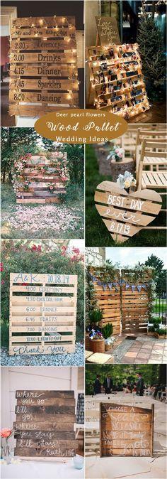 Rustic wood pallet wedding ideas / http://www.deerpearlflowers.com/rustic-woodsy-wedding-decor-ideas/ #rusticwedding #countrywedding #weddingdecor